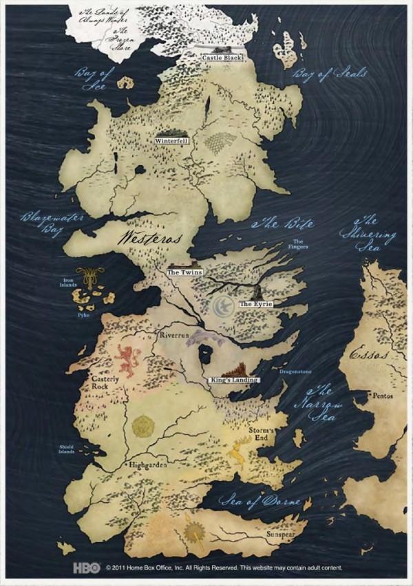 Game of Thrones aile şecereleri ve haritaları