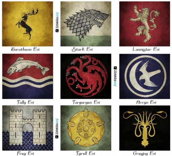 Westeros Ailelerinin Mühürleri