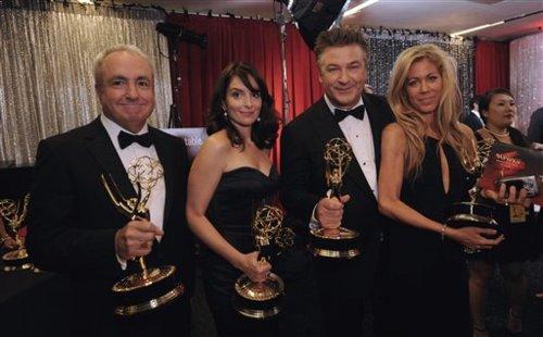 Lorne Michaels, Marci Klein, Alec Baldwin, Tina Fey