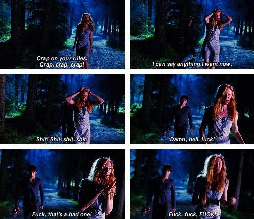 Jessica: Sıçayım kurallarına. Sıçayım, sıçayım, sıçayım! İstediğim her şeyi söyleyebilirim, artık. Siktir, siktir, siktir. Kahretsin, kahrolası, sikeyim! Sikmek en kötü olanı. Sikeyim, sikeyim, sikeyim!
