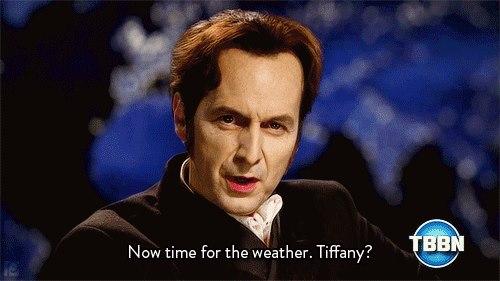 Russell: Şimdi hava durumu zamanı. Tiffany?