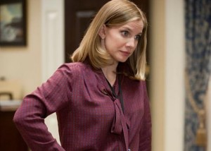 premiere of 2015 veep season 4 with anna chlumsky plays the role of amy in a purple shirt - tv still-f47545