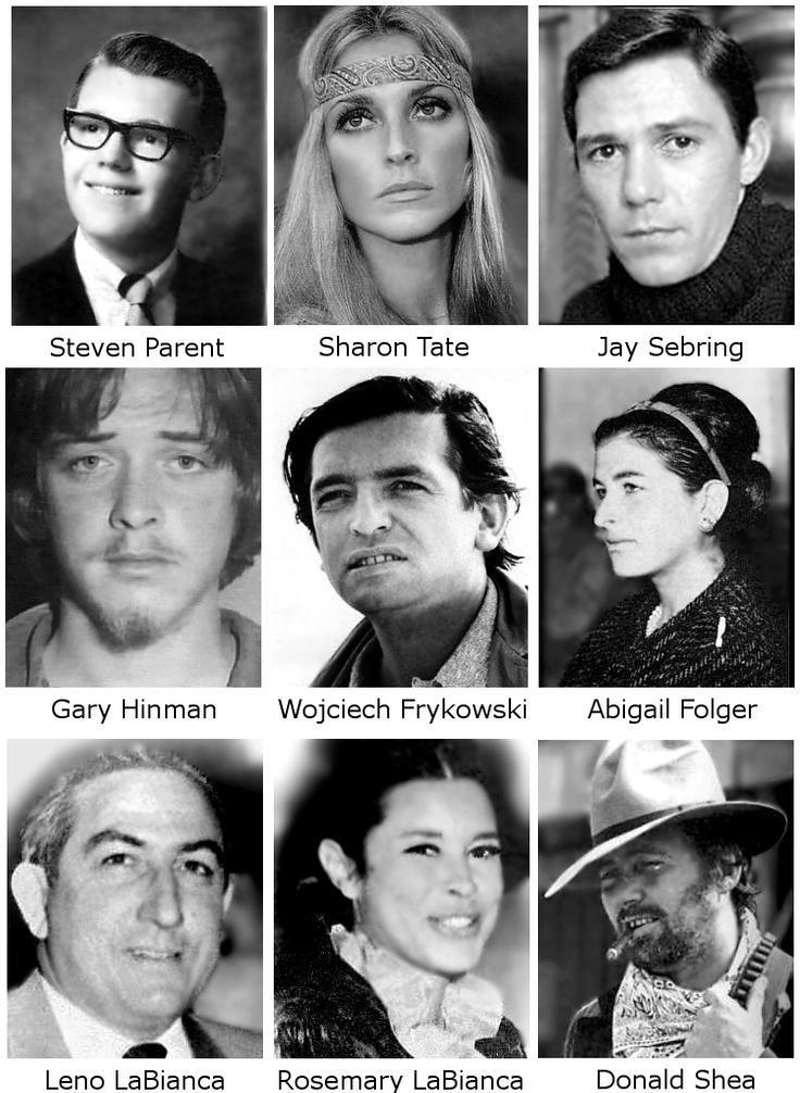 Öldürdüğü kişilerden en bilinenleri.