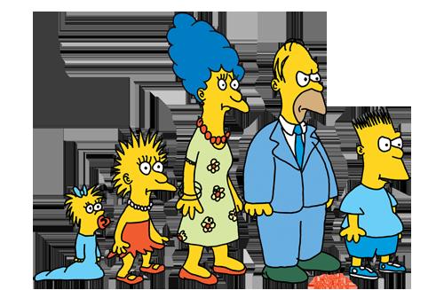 Çizilen ilk Simpson ailesi (15 dakikada çizilmiş)