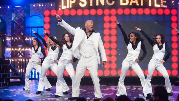 Lip Sync Battle on January 18, 2015 with Jimmy Fallon and Dwayne Johnson.