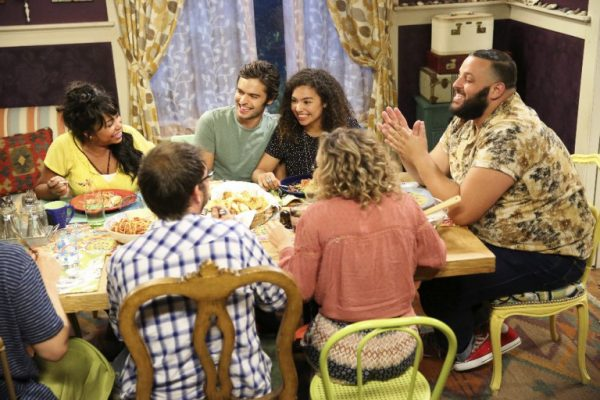 """RECOVERY ROAD - """"(Be) Coming Clean"""" - Maddie finishes her first 30 days in rehab, but is preoccupied after the house loses another member, in the season finale episode of """"Recovery Road,"""" airing MONDAY, MARCH 28 (9:00-10:00 p.m. EDT) on Freeform. (Freeform/Adam Taylor) PAULA JAI PARKER, SEBASTIAN DE SOUZA, JESSICA SULA, DANIEL FRANZESE"""