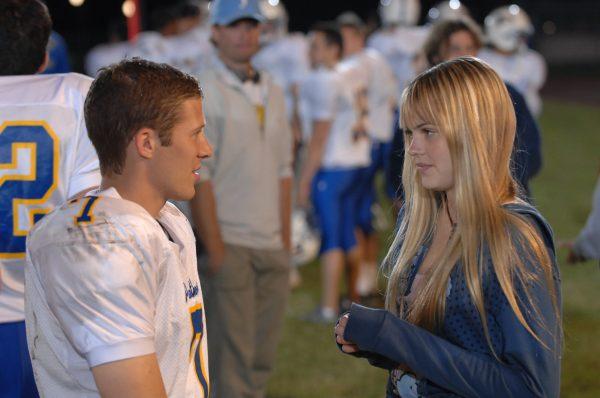 "FRIDAY NIGHT LIGHTS -- ""Full Hearts"" Episode 109 -- Pictured: (l-r) Zach Gilford as Matt Saracen, Aimee Teegarden as Julie Taylor -- NBC Photo: Van Redin"