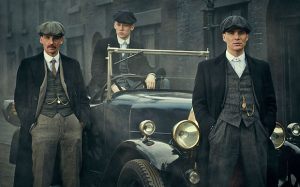 Programme Name: Peaky Blinders - TX: n/a - Episode: Episode 1 (No. 1) - Picture Shows:  Arthur Shelby (Paul Anderson), John Shelby (Joe Cole), Thomas Shelby (Cillian Murphy) - (C) Mandabach TV - Photographer: Robert Viglasky