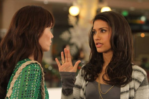 "THE LEAGUE ""A Krampus Carol"" -- Episode 12 (Airs Thursday, December 20, 10:30 pm e/p) -- Pictured: (L-R) Katie Aselton as Jenny, Janina Gavankar as Shiva -- CR: Patrick McElhenney/FX Network"