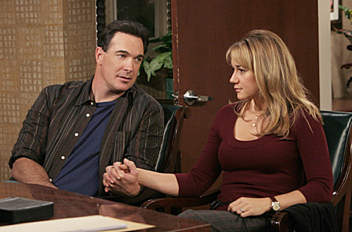 """Kids"" -- Jeff (Patrick Warburton) and Audrey (Megyn Price) take the next step in their plans to have a family on """"RULES OF ENGAGEMENT,"" Monday, March 5 (9:30-10:00 PM, ET/PT) on the CBS Television Network. Photo: Robert Voets/CBS ©2006 CBS Broadcasting Inc. All Rights Reserved."
