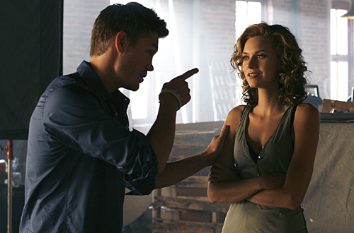 """""""Racing Like a Pro"""" -Pictured (L-R) Chad Michael Murray as Lucas and Hilarie Burton as Peyton Sawyer in ONE TREE HILL on The CW. Photo: Fred Norris/The CW ©2007 The CW Network, LLC. All Rights Reserved."""