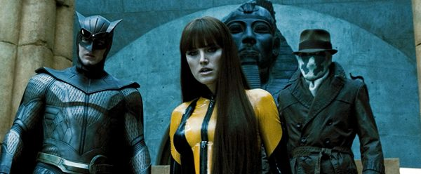 "PATRICK WILSON as Nite Owl II, MALIN AKERMAN as Silk Spectre II and JACKIE EARLE HALEY as Rorschach in Warner Bros. Pictures', Paramount Pictures' and Legendary Pictures' action adventure ""Watchmen,"" distributed by Warner Bros. Pictures. PHOTOGRAPHS TO BE USED SOLELY FOR ADVERTISING, PROMOTION, PUBLICITY OR REVIEWS OF THIS SPECIFIC MOTION PICTURE AND TO REMAIN THE PROPERTY OF THE STUDIO. NOT FOR SALE OR REDISTRIBUTION."