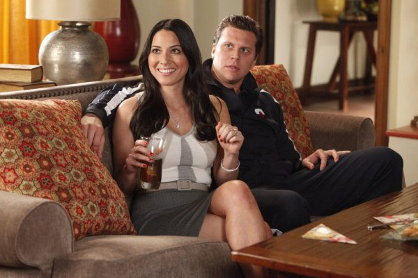 "PERFECT COUPLES -- ""Perfect Job"" Episode 110 -- Pictured: (l-r) Olivia Munn as Leigh, Hayes MacArthur as Rex -- Photo by: Jordin Althaus/NBC"