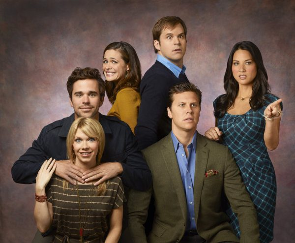 PERFECT COUPLES -- Season: 1 -- Pictured: (l-r) Mary Elizabeth Ellis as Amy, David Walton as Vance, Christine Woods as Julia, Kyle Bornheimer as Dave, Hayes MacArthur as Rex, Olivia Munn as Leigh -- Photo by: Mitchell Haaseth/NBC